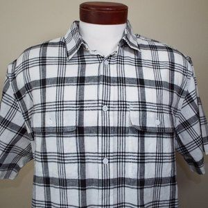 Old Navy Linen Blend Short Sleeve Front Button NWT